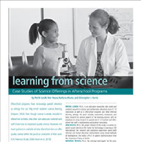 Check out our article Learning From ScienceAfterschool Matters
