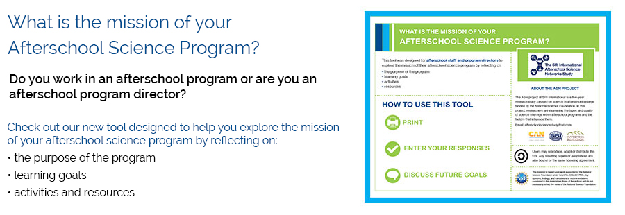 What is the mission of your afterschool science program?